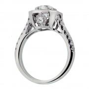 Asscher Cut Diamond Engagement Ring Upright