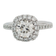 Cushion Halo Engagement Ring Front