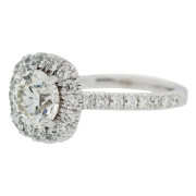 Cushion Halo Engagement Ring Side