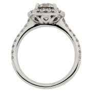 Cushion Halo Engagement Ring Upright