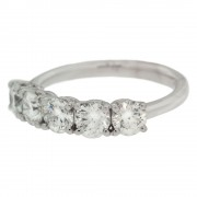 Five Stone Engagement Ring Side