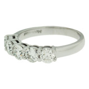 Five Stone Ring With Bezel Setting Side