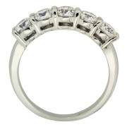Five Stone Ring With Bezel Setting Upright