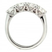Four Stone Engagemnt Ring Upright