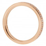 Pave Rose Gold Wedding Band Upright