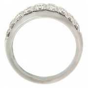 Triple Row Round Diamond Ring Upright