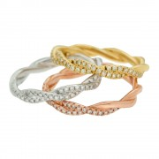 Triple Twisted Wedding Bands