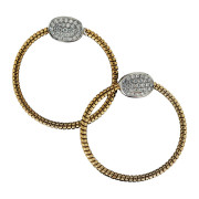 Cable Diamond Earrings Front
