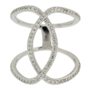 Oval Cocktail Diamond Ring Front