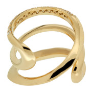 Yellow Gold Wave Ring Back