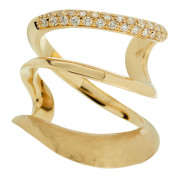 Yellow Gold Wave Ring Front