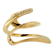 Yellow Gold Wave Ring Profile
