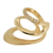 Yellow Gold Wave Ring Side