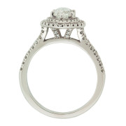 Marquise Diamond Ring With Double Halo Upright