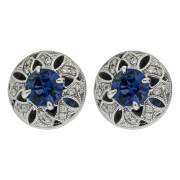 dome-sapphire-earring-front