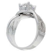 Crossover Shank Engagement Ring Upright