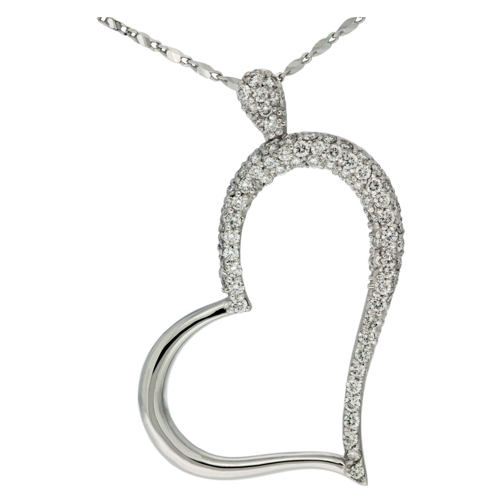 Half Diamond Heart Necklace Mouradian Custom Jewelry