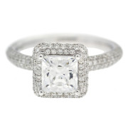 Square Diamond Engagement RIng Front