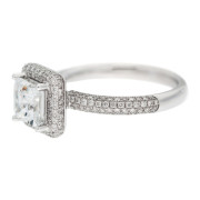 Square Diamond Engagement RIng Side
