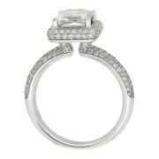 Square Diamond Engagement RIng Upright