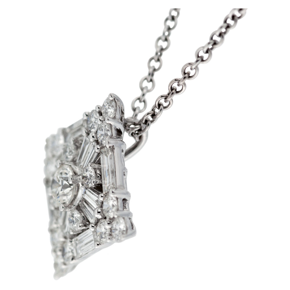 thread products ileanamakri baguette pendant fine diamond
