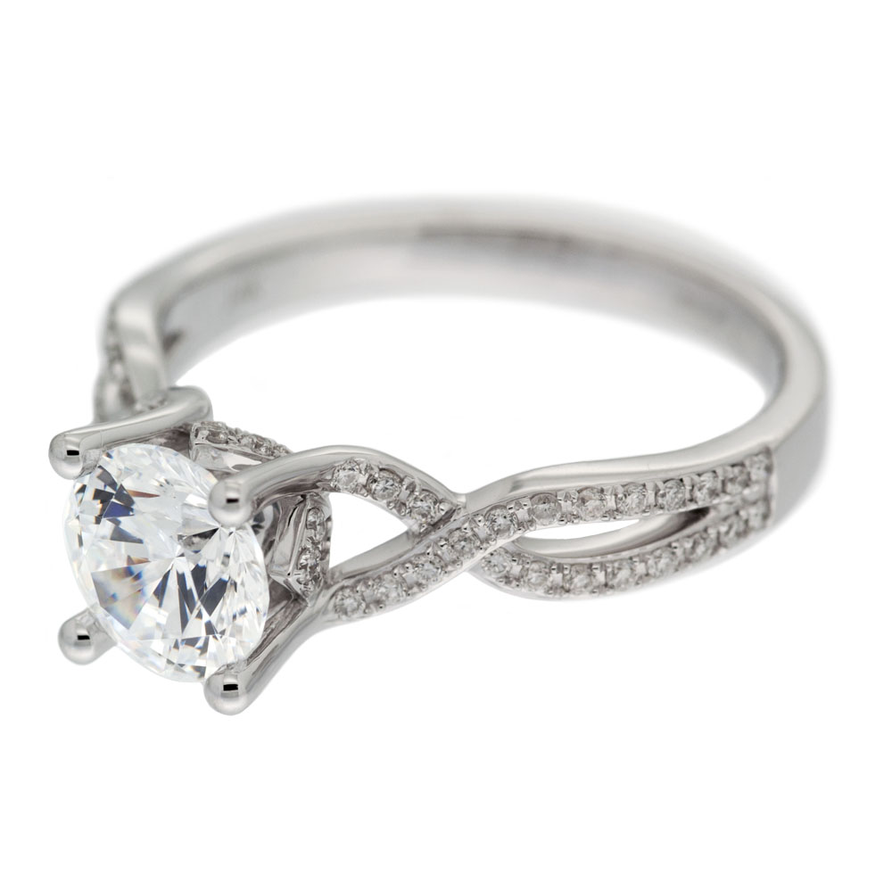 Twisted Shank Engagement Ring Mouradian Custom Jewelry