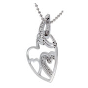 Heart Within A Heart Necklace Side