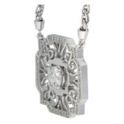 Octagon Motif Diamond Pendant Side