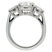 Three Diamond Engagement Ring Upright