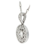 Nine Stone Diamond Pendant Side