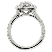 Round Diamond with Round Halo Engagement Ring Upright