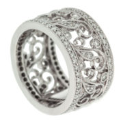 Wide Filigree Ring Upright