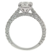 Solitaire Diamond Engagement Ring with Diamond Shank Upright