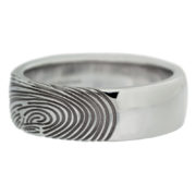 Thumbprint Wedding Band Side
