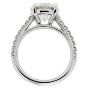 Solitaire Diamond With Diamond Shank Engagement Ring Upright