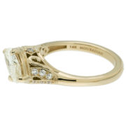 Yellow Gold Marquise Diamond Ring Side