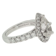 Pear Diamond Engagement Ring With Halo Side